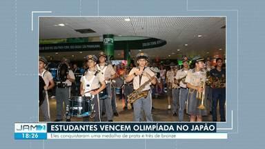 Conheça alunos de Manaus que receberam medalhas em Olimpíada de Matemática - Competição aconteceu no Japão.