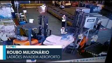 SP2 - Edição de quinta-feira, 05/07/2019 - Ladrões invadem aeroporto em roubo milionário. Casos de sarampo em bebês com menos de um ano aumentaram na capital.
