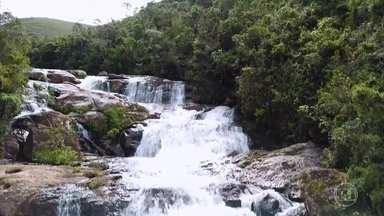 Expedição do Globo Repórter cruza a Serra da Bocaina para conhecer suas belas cachoeiras - A equipe se aventurou pelas matas para alcançar territórios isolados e chegar em quedas d'água inacessíveis nesta região que acaba de se tornar patrimônio mundial.