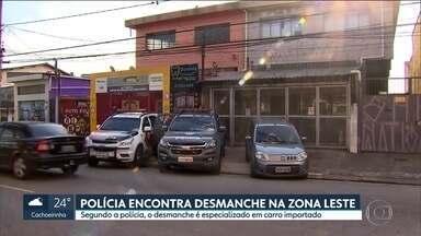 Polícia encontra desmanche na zona leste - Autoescola servia como fachada para o crime