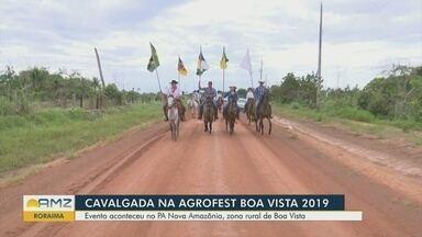 Cavalgada reúne adeptos da montaria no último dia da Agrofest 2019, em Boa Vista - Evento ocorreu na Zona rural de Boa Vista.