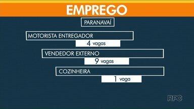 Confira as vagas de emprego para Paranavaí e Umuarama - Agência de Cianorte está fechada, por causa do feriado.