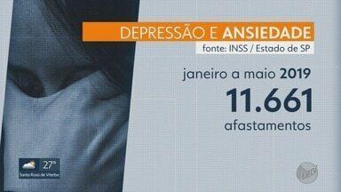 Depressão e ansiedade afastam 77 pessoas por dia do trabalho - Número foi contabilizado no estado de São Paulo, segundo o INSS.
