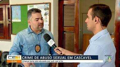 Pai, tio e avô presos por estupro em Cascavel - Saiba mais em g1.com.br/ce