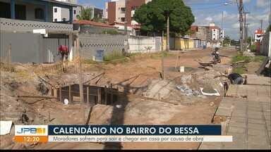 Calendário JPB volta ao Bessa, em João Pessoa, e mostra obra em andamento - Moradores querem rua asfaltada.