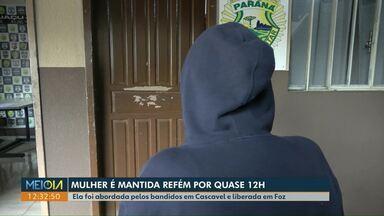 Mulher é sequestrada em Cascavel e solta 12 horas depois em Foz do Iguaçu - Vítima diz ter sido abusada pelos sequestradores. Ninguém foi preso. Polícia investiga o caso.