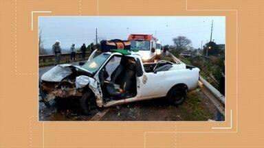 Três pessoas ficam feridas em acidente de trânsito no fim de semana em Erechim - Duas permanecem internadas em estado estável.