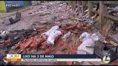 Moradores denunciam acúmulo de lixo no Canal da 3 de Maio - Moradores denunciam acúmulo de lixo no Canal da 3 de Maio