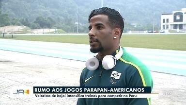 Velocista de Itajaí intensifica treinos para competir nos jogos Parapan-Americanos - Velocista de Itajaí intensifica treinos para competir nos jogos Parapan-Americanos
