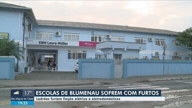 Criminosos furtam fiação elétrica e eletrodomésticos de escolas de Blumenau - Criminosos furtam fiação elétrica e eletrodomésticos de escolas de Blumenau