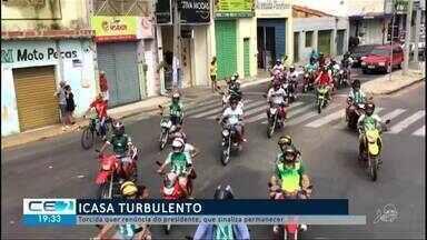 Torcida quer renúncia do presidente do Icasa - Confira mais notícias em g1.globo.com/ce
