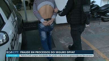 Nove são presos em operação contra fraude em processos do DPVAT - Polícia Civil cumpre mandados de prisão e de busca e apreensão em Umuarama