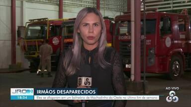 Irmãos que se afogaram no Rio Machadinho continuam desaparecidos - Homem tentou salvar a irmã e também se afogou em balneário de Machadinho do Oeste.