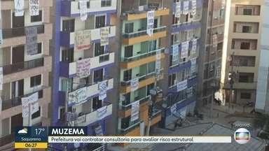 Prefeitura vai contratar consultoria para avaliar risco estrutural de prédios na Muzema - Técnicos da Geo-Rio já atestaram o perigo, mas os moradores de prédios que serão demolidos cobraram um novo laudo.