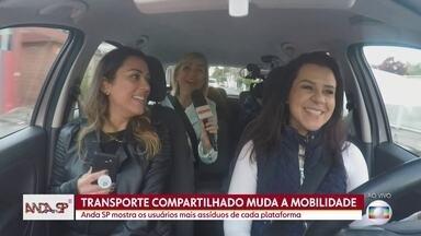 Os aplicativos de mobilidade muradam a rotina das pessoas em SP - As caronas passaram a fazer parte da rotina dos moradores de São Paulo