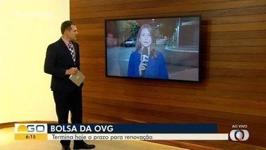 Esta quarta é o último dia para atualizar cadastro na OVG e manter bolsa, em Goiânia - Estudantes devem acessar o site da organização para garantir a continuidade no programa.