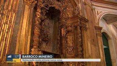 Igrejas em Ouro Preto passam por restauração - A reforma está revelando pinturas que só foram vistas no século XVIII.