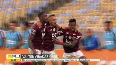 Fla tenta a virada na Libertadores - Rubro-negro precisa vencer Emelec por três gols de diferença no Maracanã para se classificar e continuar na competição.