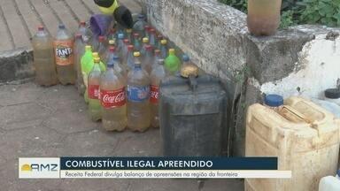 Receita Federal divulga balanço de apreensões de combustível na região de fronteira de RO - Combustível boliviano é transportado de forma ilegal.