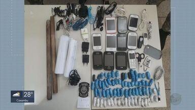 Drogas e 13 celulares são apreendidos no presídio de Alfenas - Drogas e 13 celulares são apreendidos no presídio de Alfenas