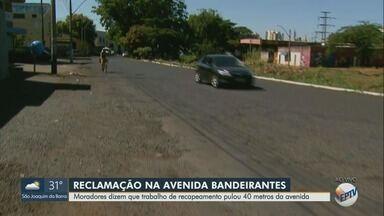 Depois de anos de cobrança, avenida movimentada de Ribeirão passa por recapeamento - Asfalto estava deteriorado na Avenida Bandeirantes.