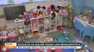 Delegacia da Mulher em Salvador inaugura brinquedoteca para filhos de vítimas de agressão - Agora as mulheres podem deixar os filhos brincando enquanto prestam queixa.