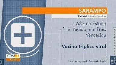 Registros de casos de sarampo aumentam no Estado de São Paulo - Uma confirmação foi feita em Presidente Venceslau.