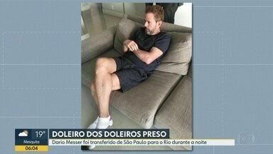 Doleiro Dario Messer é transferido de São Paulo para o Rio após prisão - A transferência de Dario Messer aconteceu durante a noite desta quarta-feira (31). O doleiro dos doleiros estava foragido há mais de um ano.
