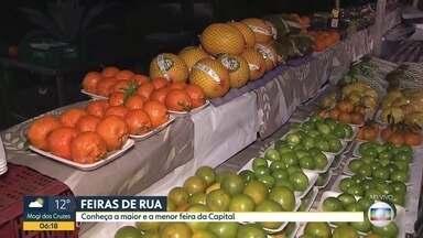 BDSP mostra maior e menor feiras de rua da capital - A maior fica no Jd. América e se estende por mais de 800m, enquanto a menor é montada no Ipiranga e ocupa só 50m.