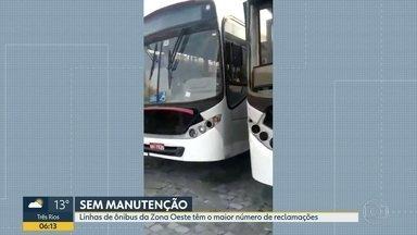 Consórcio Santa Cruz culpa concorrência desleal de vans por problemas nos ônibus - Funcionários da empresa denunciam a falta de manutenção da frota.