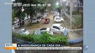 Moradores do conjunto do Vale dos Rios, no Stiep, reclamam da falta de segurança - Quem mora e trabalha no local está com medo dos assaltos, que têm sido constantes.