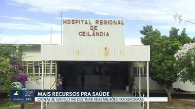 Governo anuncia liberação recursos para saúde - Com a ordem de serviço assinada hoje, serão destinados R$43 milhões para obras em 270 prédios da secretaria de Saúde, entre hospitais e postos de saúde.