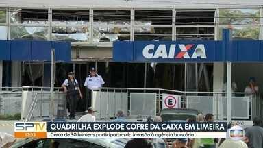 Quadrilha explode cofre de banco em Limeira - Cerca de 30 homens participaram da ação no interior do estado.