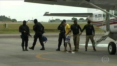 Termina a transferência de presos envolvidos no massacre em Altamira - Os últimos oito presos chegaram em dois aviões em Belém. Agora eles serão levados para os presídios da região metropolitana.