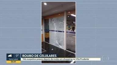 Três pessoas presas depois de assalto a shopping na Vila Prudente - Os criminosos trocaram tiros com seguranças, mas ninguém ficou ferido.