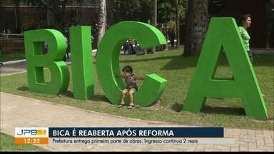Parque da Bica tem primeira etapa da reforma inaugurada em João Pessoa - Bica ganhou espaços de convivência, praça de alimentação, playground e acessibilidade. Segunda etapa da reforma está em andamento.
