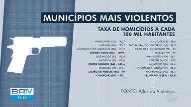 Mapa da Violência revela que quatro dos dez municípios mais violentos estão na Bahia - Os dados são do Instituto de Pesquisa Econômica Aplicada (Ipea) e do Fórum Brasileiro de Segurança Pública.