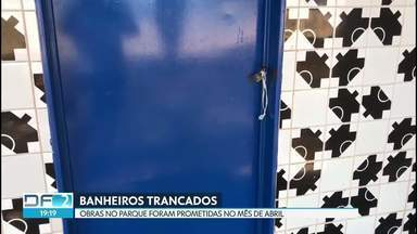Usuários encontram banheiros fechados no Parque da Cidade no fim de semana - De acordo com administração, vandalismo causou fechamento dos locais.