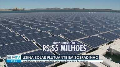 Bolsonaro visita Bahia para inauguração de usina flutuante de energia solar em Sobradinho - O equipamento fica localizado no Lago de Sobradinho, região norte do estado.