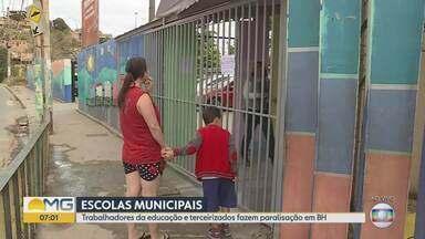 Escolas municipais estão sem aulas por causa de paralisação de funcionários - Escolas municipais estão sem aulas por causa de paralisação de funcionários