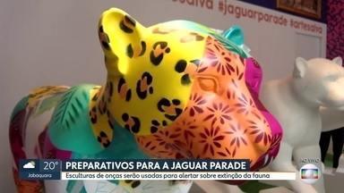 Vai ter Jaguar Parade na Capital - Artistas estão pintando as esculturas que vão para shoppings e depois para ruas da cidade