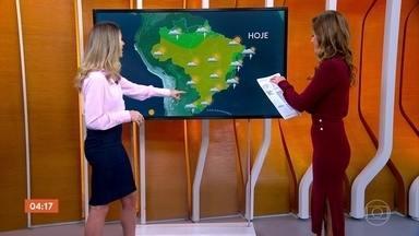 Meteorologia prevê chuva no ES nesta quarta-feira - Pode chover também em parte de Minas Gerais e no sul da Bahia.