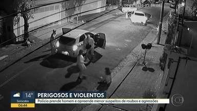 Polícia prende criminosos suspeitos de realizarem crimes violentos em Santo André - Um homem e um menor de idade foram detidos no grande ABC