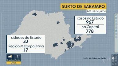 Surto de Sarampo - Bebês devem ser imunizados 15 dias antes de viajar para áreas de risco