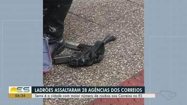 ES já registrou 28 assaltos a agências dos Correios em 2019, diz Polícia Federal - O delegado da Polícia Federal Lorenzo Fontes Espósito explicou que o número de assaltos aos Correios aumentou a partir de 2017 em todo o estado.