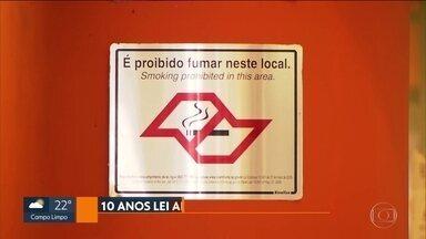 Há 10 anos entrava em vigor a Lei Antifumo - Desde então, segundo Ministério da Saúde, 300 mil paulistas largaram o cigarro
