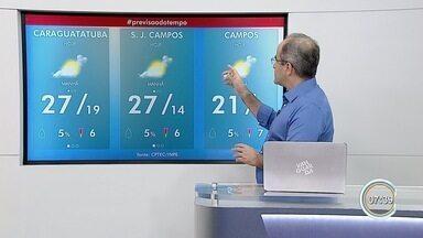 Quarta-feira será de calor na maior parte da região - Confira na previsão do tempo.