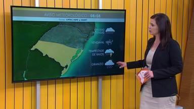 Chuva e vento forte podem atingir o RS nesta quinta (8) no RS - Assista ao vídeo.
