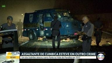Preso por roubo em aeroporto é acusado de ataque em 2017 - O assaltante participou de ataque a carros-forte no Vale do Paraíba, em 2017