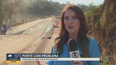 Brumadinho: ponte entregue pela Vale em abril apresenta buracos e rachaduras - Estrutura foi estrada foi parcialmente destruída pelos rejeitos de lama da barragem rompida.
